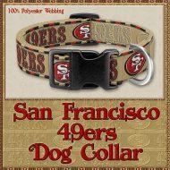 San Francisco 49ers Designer Dog Collar Product Image No1