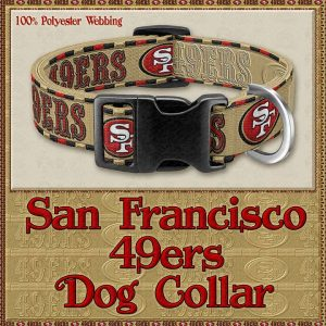 San Francisco 49ers Designer Dog Collar Product Image No1