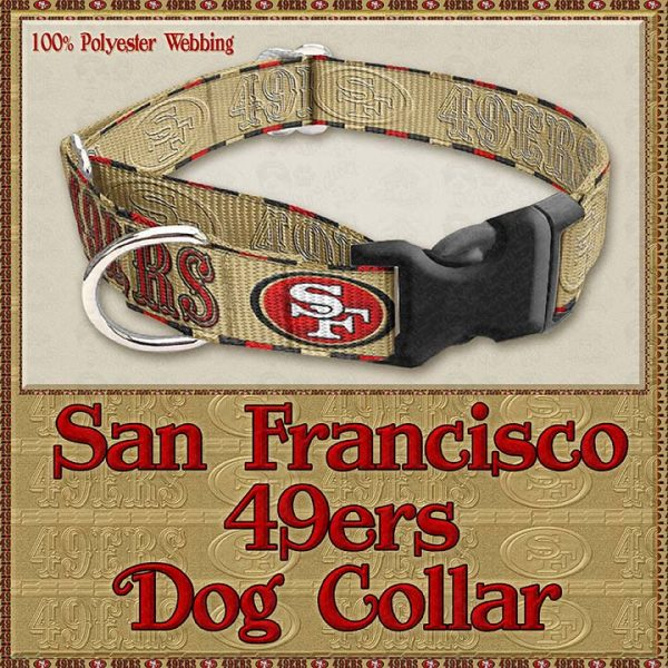 San Francisco 49ers Designer Dog Collar Product Image No2