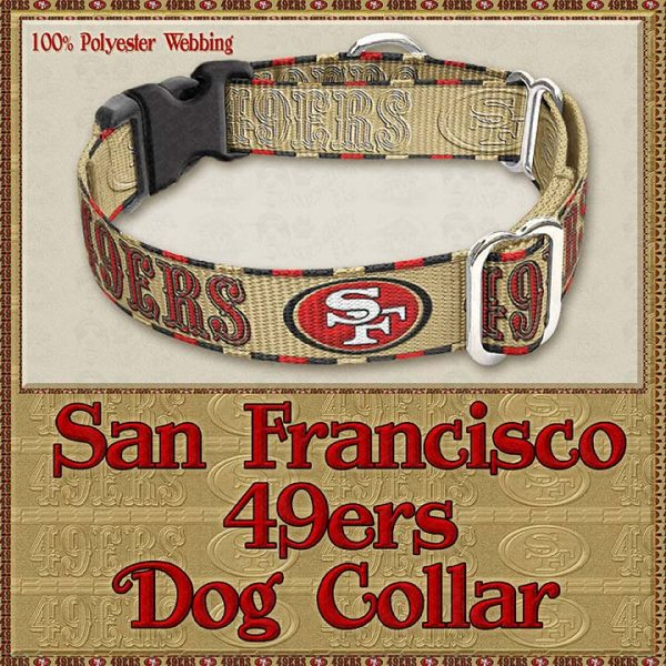 San Francisco 49ers Designer Dog Collar Product Image No3