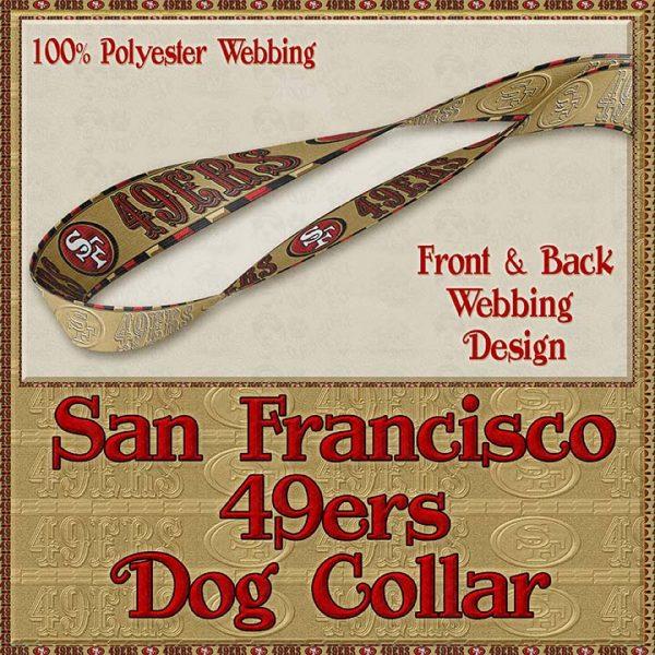 San Francisco 49ers Designer Dog Collar Product Image No4