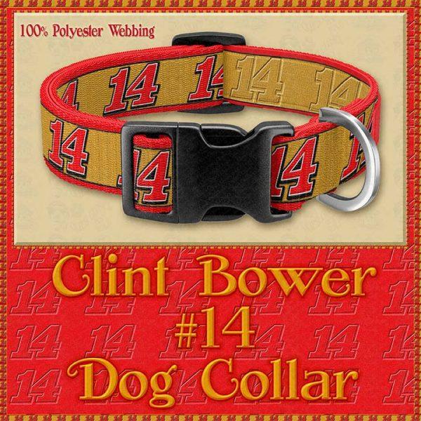 Clint Bower Number 14 NASCAR Designer Dog Collar Product Image No1