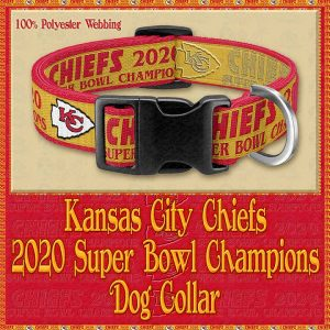 Kansas City Chiefs Super Bowl Champions 2020 Designer Dog Collar Product Image No1