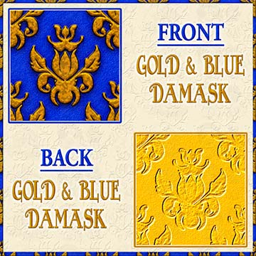 Color Choice Damask Gold With Blue Background Product Image