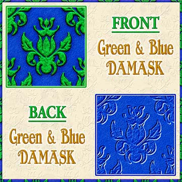 Color Choice Damask Green With Blue Background Product Image