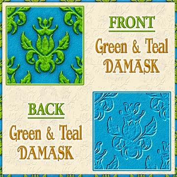 Color Choice Damask Green With Teal Background Product Image