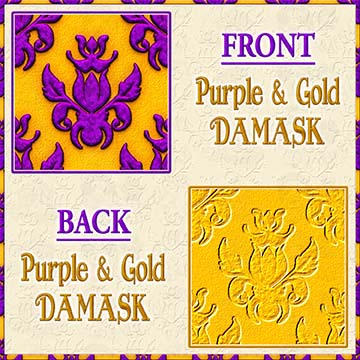 Color Choice Damask Purple With Gold Background Product Image