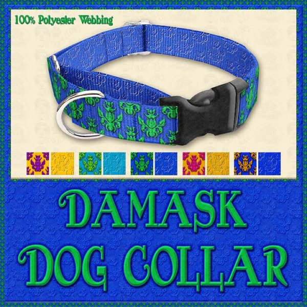Damask Designer Dog Collar Product Image No3