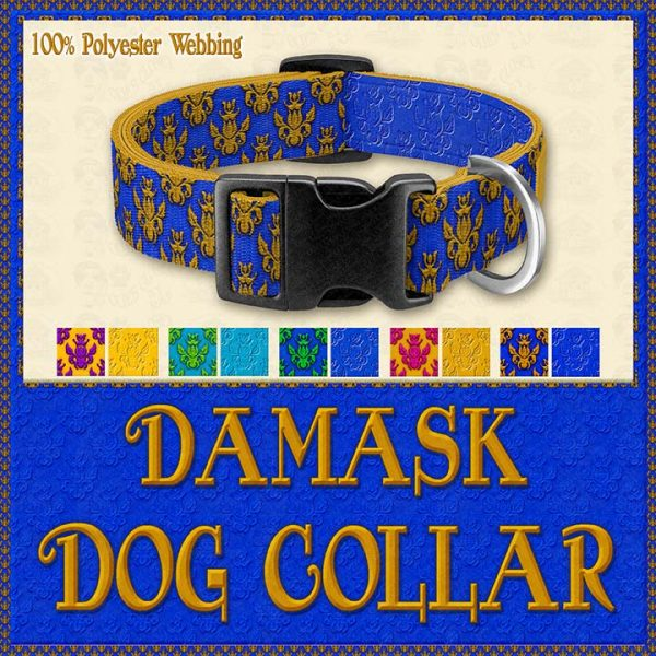 Damask Designer Dog Collar Product Image No5