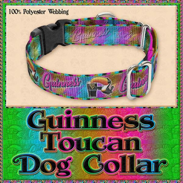 Guinness Toucan Tropical Designer Dog Collar Product Image No2