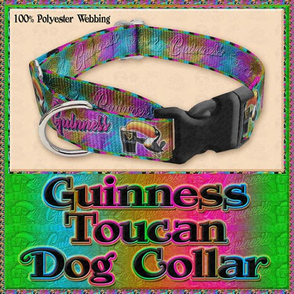 Guinness Toucan Tropical Designer Dog Collar Product Image No3