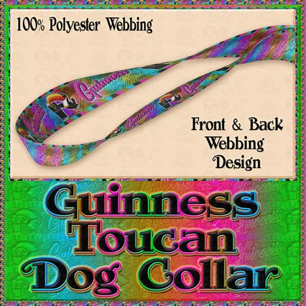 Guinness Toucan Tropical Designer Dog Collar Product Image No4