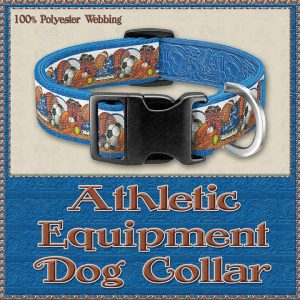 Sports Lover Athletic Polyester Webbing Dog Collar Product Image No1