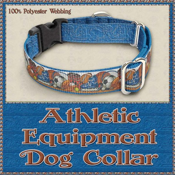 Sports Lover Athletic Polyester Webbing Dog Collar Product Image No2