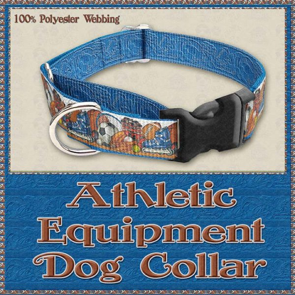 Sports Lover Athletic Polyester Webbing Dog Collar Product Image No3
