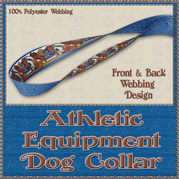Sports Lover Athletic Polyester Webbing Dog Collar Product Image No4