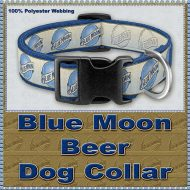 Blue Moon Beer Designer Dog Collar Product Image No1