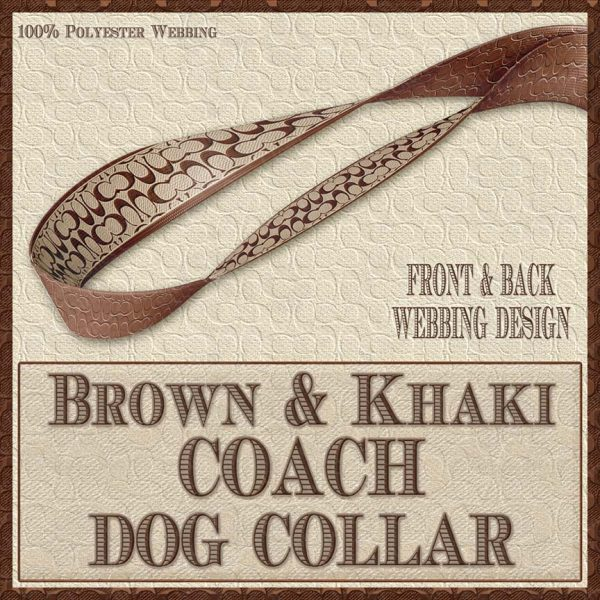 COACH Brown Khaki Classic Designer Dog Collar Product Image No4