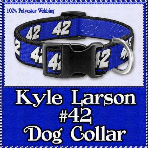 Kyle Larson No 42 NASCAR Designer Dog Collar Product Image No1