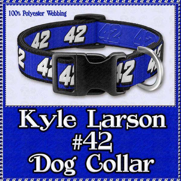 Kyle Larson No 42 NASCAR Designer Dog Collar Product Image No1