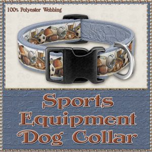 Sports Equipment Scholar Athlete Design No1 Dog Collar Product Image No1