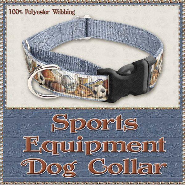 Sports Equipment Scholar Athlete Design No2 Dog Collar Product Image No2