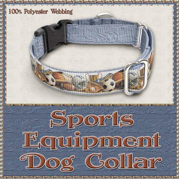Sports Equipment Scholar Athlete Design No2 Dog Collar Product Image No3