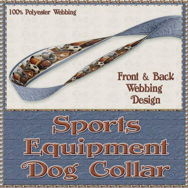 Sports Equipment Scholar Athlete Design No2 Dog Collar Product Image No4