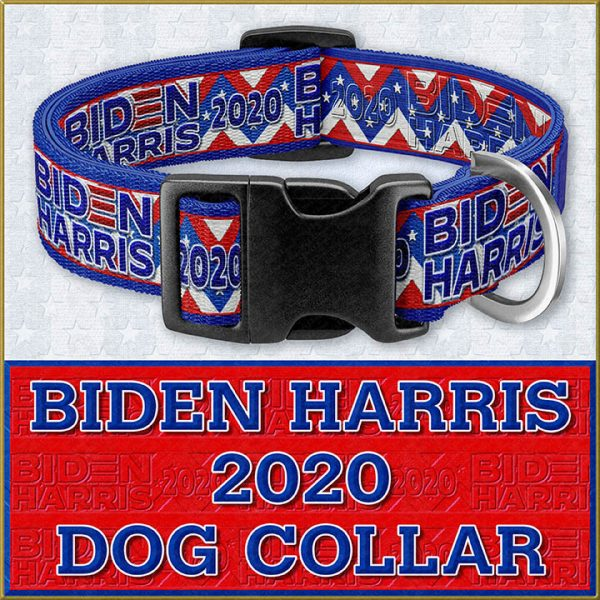 JOE BIDEN KAMALA HARRIS 2020 Dog Collar Product Image No1