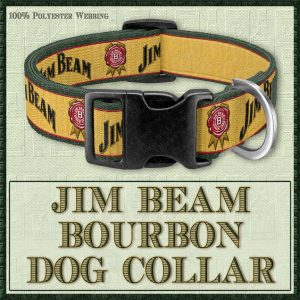 Jim Beam Kentucky Bourbon Designer Dog Collar No1