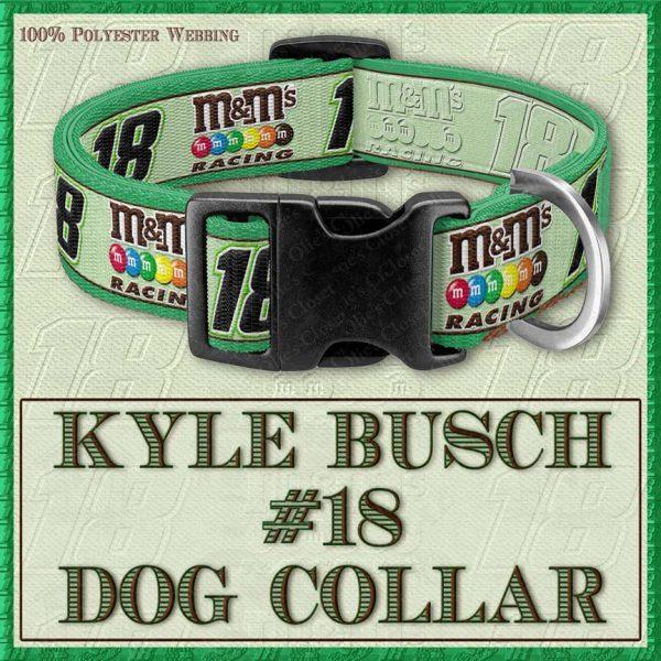 Kyle Busch Number 18 NASCAR Designer Dog Collar Product Image No1