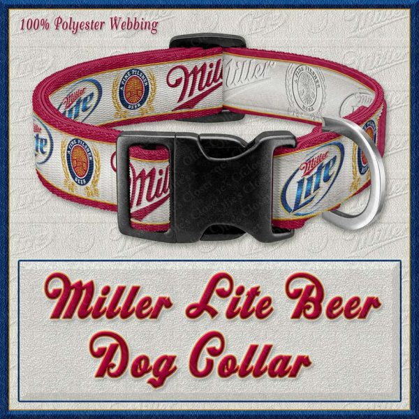 Miller Lite Beer Designer Dog Collar Product Image No1