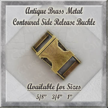 Antique Brass Contoured Metal Side Release Buckle Product Image