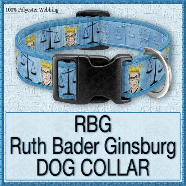 RBG Ruth Bader Ginsburg Designer Dog Collar Product Image No1
