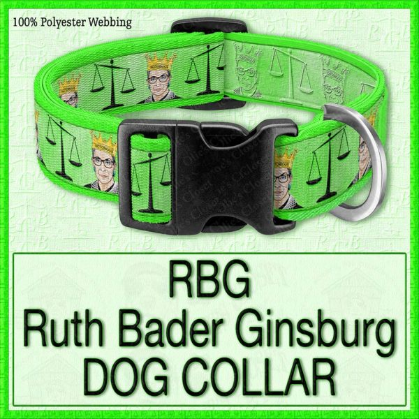 RBG Ruth Bader Ginsburg Designer Dog Collar Product Image No2