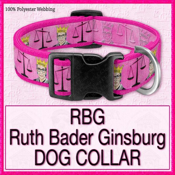 RBG Ruth Bader Ginsburg Designer Dog Collar Product Image No3