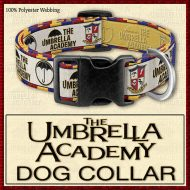 The Umbrella Academy Designer Dog Collar Product Image No1