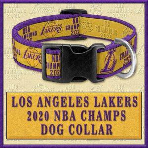 LA Los Angeles Lakers 2020 NBA Champions Designer Dog Collar Product Image No1