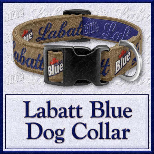 Labatt Blue Beer Designer Dog Collar Product Image No1