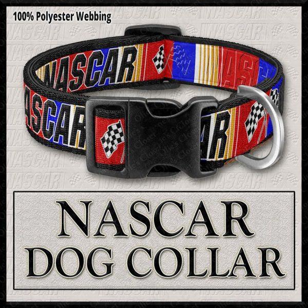NASCAR RED Designer Dog Collar Product Image No1