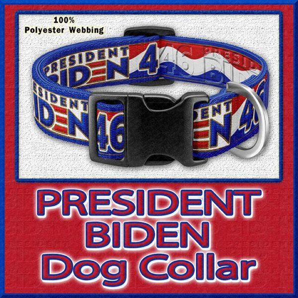 President Joe Biden Number 46 Designer Dog or Cat Collar Product Image No1