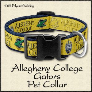 Allegheny College Gators Pet Collar Product Image No1