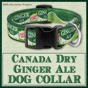 Canada Dry Ginger Ale Designer Dog Collar Product Image No1