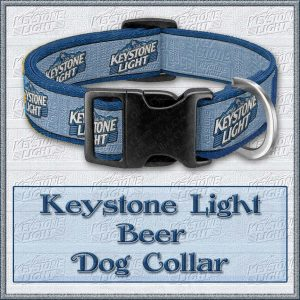 Keystone Light Beer Dog Keystone Light Beer Dog or Cat Collar Product Image No1