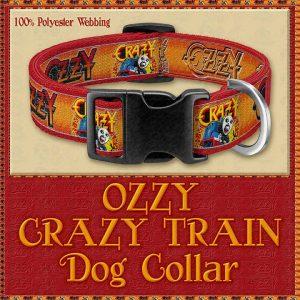 Ozzy Osborn Crazy Train Designer Dog Collar Product Image No1