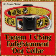 Taoism I Ching Enlightenment Designer Dog or Cat Collar Product Image No1