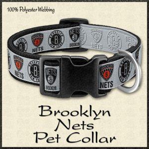 Brooklyn Nets NBA Basketball Pet Collar Product Image No1