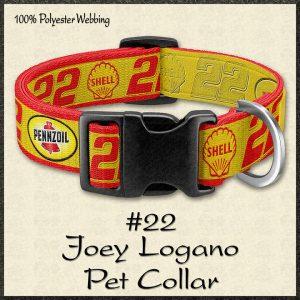 Joey Logano No22 NASCAR Pet Collar Product Image No1