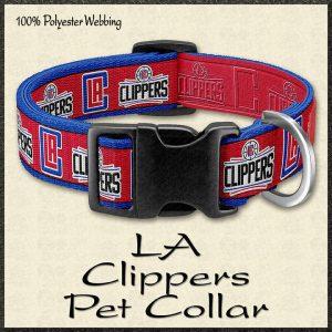 LA Clippers NBA Basketball Pet Collar Product Image No1
