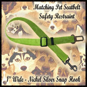 Matching Pet Seatbelt Safety Restraint Product Image